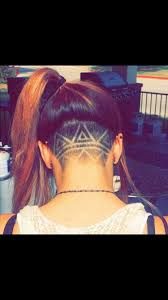back of head shaved design everything hair pinterest