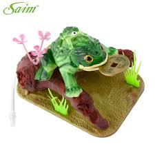 4 saim lucky coin frog toad live aquarium ornaments