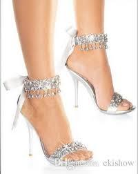 wedding shoes rhinestones new fashion silver gray rhinestone wedding shoes high heels