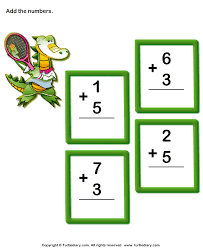 add one digit numbers sums up to ten worksheet turtle diary