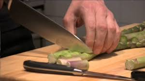 victorinox prepping asparagus with a paring knife youtube
