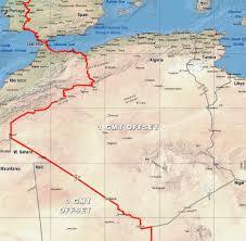 Time Zone Maps Algeria Time