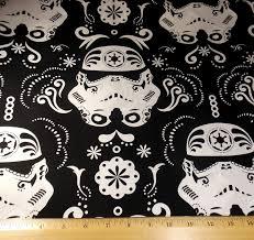 stormtrooper fabric stormtrooper sugar skull fabric star wars
