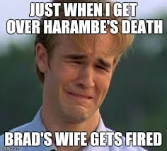 Brad Meme - more sad news imgflip