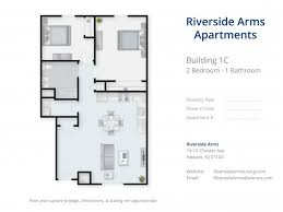 2 bed 1 bath apartment in newark nj riverside arms