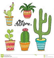 cute cartoon cactus royalty free stock photos image 36281158