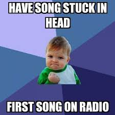 Internet Meme Song - success kid have song stuck in head first song on radio meme