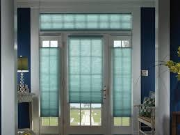 interior roll up window treatment for door hanging on brown