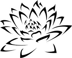 awesome black ink tribal lotus flower stencil golfian com