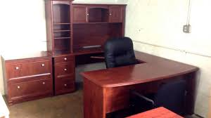 U Shaped Desks With Hutch Broad U Shaped Executive Desk Available In Mahogany