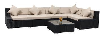 Patio Sectional Sofa Furniture Home Ohana Collection 6pc Sunbrella Outdoor Sectional