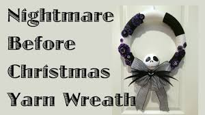nightmare before christmas yarn wreath youtube