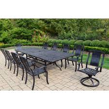 Extendable by Oakland Living Extendable Aluminum 11 Piece Rectangular Patio