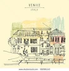 canal bank venice italy europe vector stock vector 317124308