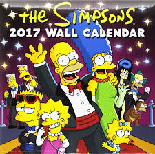 the simpsons the simpsons official 2017 calendar square 305x305mm wall