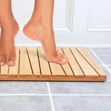 Wood Shower Mat Bamboo Shower Mat Or Floor Mat At 25 Discount