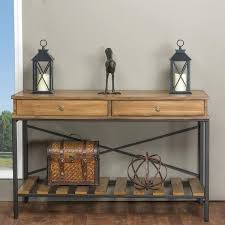 black metal entry table industrial entry table reclaimed wood console table pottery barn diy