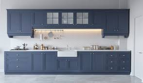 kitchen classic blue grey kitchen cabinet features diagonal white