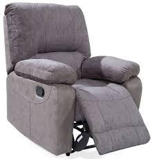Fabric Recliner Chair Buy Vida Living Hastings Grey Fabric Recliner Chair Cfs Uk