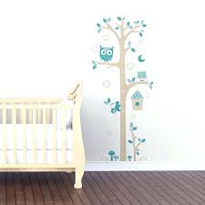 stickers chambre bébé leroy merlin stickers bebe sticker mural toise chouettes gris et bleu chambre