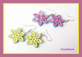 tutorial quilling flower paper quilled flower earrings tutorial