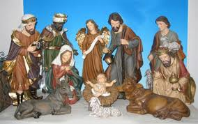 Nativity Sets Outdoor Plastic Lighted Heaven20 Jpg