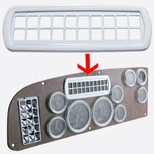 peterbilt dash warning lights peterbilt 387 chrome plastic dash warning light surround