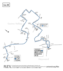 Bart Lines Map by 48 Bus Route Ac Transit Sf Bay Transit