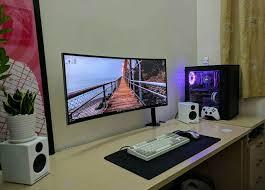 Pc Desk Setup 451 Best Setups Images On Pinterest