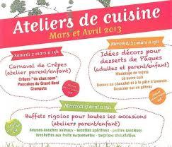 affiche atelier cuisine decors desserts de pâques ici magazine charente maritime