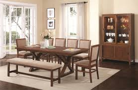 104291 camila dining table in nutmeg by coaster w options