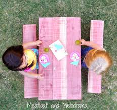 diy american doll picnic table meatloaf and melodrama