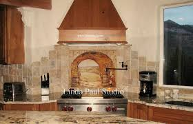 Tiled Kitchen Backsplash Tuscan Backsplash Tile Wall Murals Tiles Backsplashes