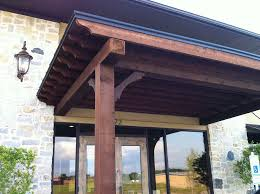 Entrance Awning Van Alstyne Flat Stylish Patio Cover Serves As Business Entrance