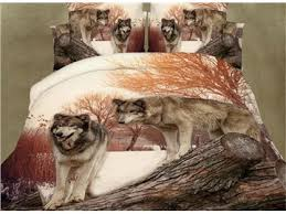 Wolf Curtains Wolf Print Bedding Set With Matching Curtains Beddinginn Com
