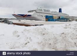the mv oriana cruise ship owned by p o cruises at port in alta