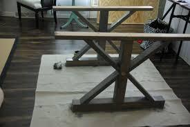 farmhouse dining table legs diy a farmhouse table modernizing the traditional pertaining to legs