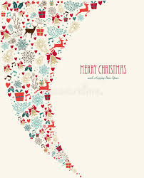 merry vintage elements composition stock vector