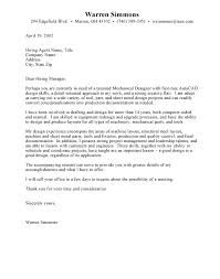 example of mechanical engineering internship cover letter