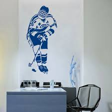 compare prices on club sport online shopping buy low price club wall decal vinyl sticker hockey sport player game team boy kids children room hockey club design