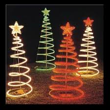 rope light trees festive lights