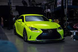 lexus green lexus rc f sport in yellow fluorescent u2013 orafol vehicle wraps