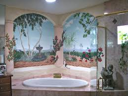 bathroom wall mural ideas wonderful swimming pol design with underwater theme with cool wall