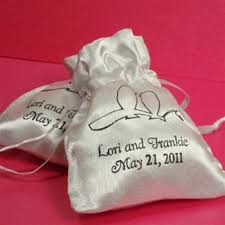 personalized party favor bags personalized satin favor bag wedding favors