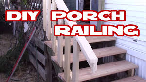 How to make deck  porch railing easy with just 2x4s DIY Home Depot