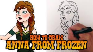 draw anna frozen u2013 step step video