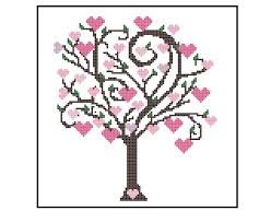 tree cross stitch pattern tree easy beginner