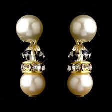 clip on earrings australia ivory pearl and gold rondelle clip earrings clip on earrings