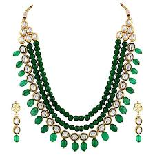 fashion necklace sets images Shining diva fashion jewellery kundan necklace set with fancy jpg