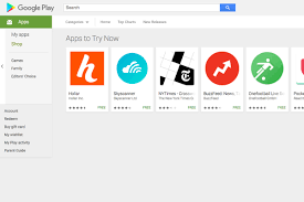 adds try now button on play store listings to highlight - Play Store Android